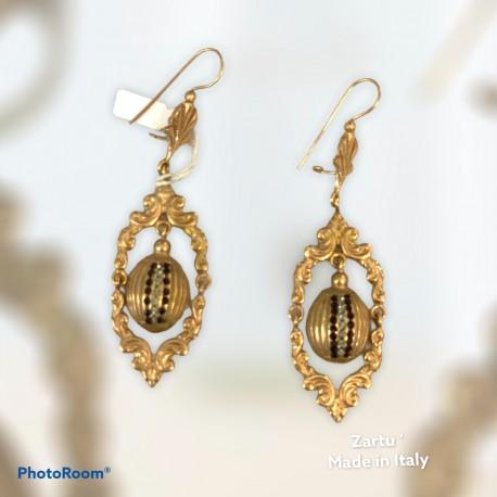 orecchino bronzo galvanica 0383